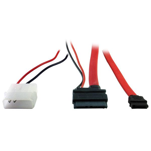 SATA-Kabel - Slimline SATA 13-polig - 7-poliges SATA, interne Stromversorgung, 2-polig