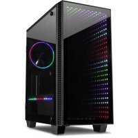 MicroATX  Gaming Tower RGB-Infinity-Mirror Tempered Glass...