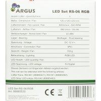 Fan Set Argus RS-06 3x 120mm RGB, RF